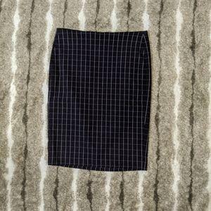 ELLE Square Pattern Midi Pencil Skirt
